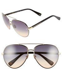 Oscar de la Renta - '210' 61mm Aviator Sunglasses - Lyst