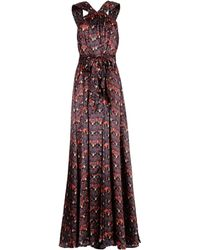 Issa Purple Long Dress - Lyst