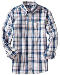 Old Navy Slimfit Plaid Poplin Shirts - Lyst