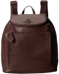 Vivienne Westwood Leather Backpack - Lyst