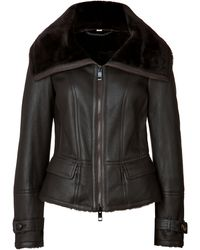 Burberry London Shearling Stonedale Jacket - Lyst
