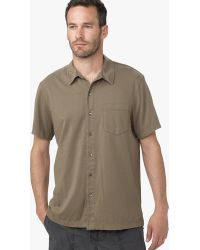 James Perse Brushed Cotton Polo - Online Exclusive green - Lyst