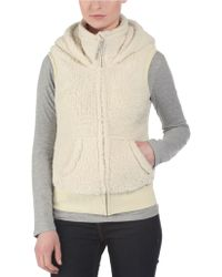 Bench - Plush Hooded Vest - Lyst