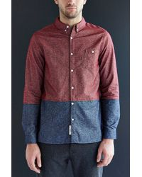 Native Youth Colorblock Flannel Button-Down Shirt - Lyst