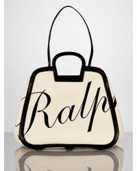 Ralph Lauren Large Rl Logo Tote - Lyst