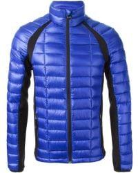 Emporio Armani Standing Collar Jacket - Lyst