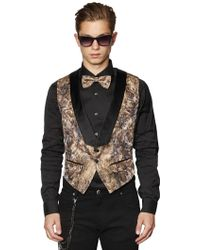 Lords & Fools Embossed Techno Jacquard Vest - Lyst