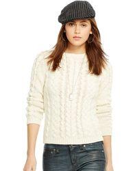 Ralph Lauren Cable-Knit Cotton Sweater - Lyst