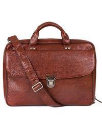 Boconi 'Mathews' Leather Commuter Bag - Lyst