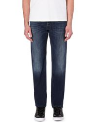 Diesel Waykee Regular-Fit Straight Mid-Rise Jeans - For Men - Lyst