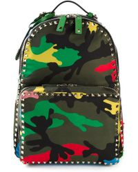 Valentino Camouflage Backpack - Lyst