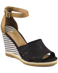 Sperry Top-Sider - Wedge Sandals - Skye Grosgrain High Heel - Lyst