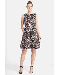 Tahari Petite Women'S Floral Print Sleeveless Fit & Flare Dress - Lyst