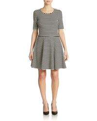 Eliza J Striped Fit And Flare - Lyst