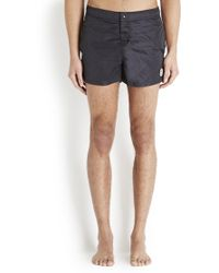 Moncler - Midnight Blue Striped Swim Shorts - Lyst