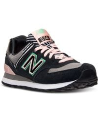 New Balance Women'S 574 Casual Sneakers From Finish Line pink - Lyst