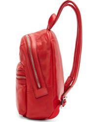 Marc By Marc Jacobs - Red Leather Third Rail Backpack - Lyst