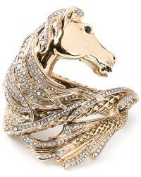 Roberto Cavalli Horse Wrap Around Cuff - Lyst
