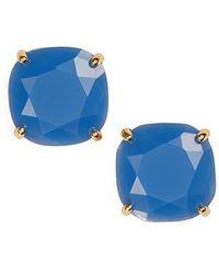 Kate Spade Small Square Stud Earrings - Ocean Blue - Lyst