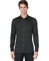 Calvin Klein Slim Fit Pencil Stripe Sport Shirt - Lyst