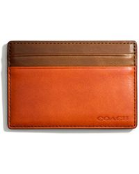 Coach Bleecker Id Card Case in Colorblock Leather - Lyst
