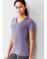 Gap Fit Breathe V-Neck Tee - Lyst