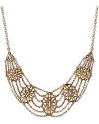 Lucky Brand - Heritage Holiday Medallion Bib Necklace - Lyst