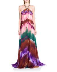 Emilio Pucci Silk Tie Dye-Print Maxi - Lyst