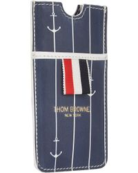 Thom Browne Anchor-pinstripe Iphone Case - Lyst