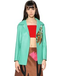Marni Double Face Nappa Leather Jacket - Lyst