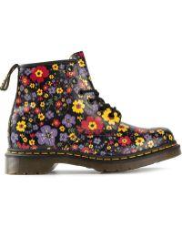 Dr. Martens Delaney Vintage Floral Boots - Lyst