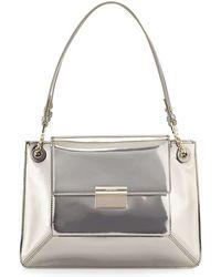 Jason Wu Christy Leather Shoulder Bag silver - Lyst