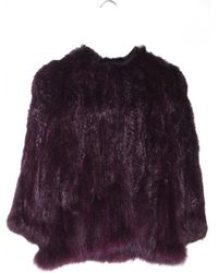 Yves Salomon Knitted Fur Jacket Majesty - Lyst