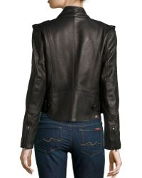 Alexander Wang Shawlcollar Leather Motorcycle Jacket - Lyst