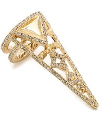 House of Harlow 1960 - Tres Triple Finger Ring - Gold - Lyst