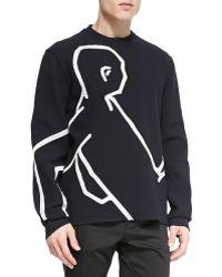 Lanvin Satin Silhouette Sweatshirt - Lyst