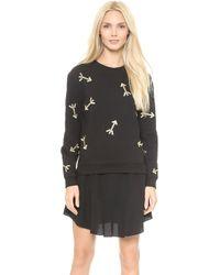 Carven Embroidered Arrow Sweatshirt  Black - Lyst