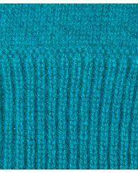 CASH CA - Teal Milled Cashmere Gloves - Lyst