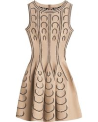Alaia Dress Serpentine Azzedine Alaa U Pattern Flare