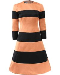 Rochas Wide Stripe Dress - Lyst
