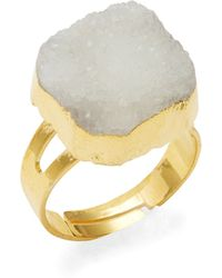 Panacea - Faux Stone Druzy Ring - Lyst