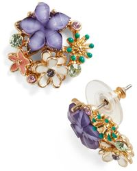 Ana Accessories Inc Bouquet Brilliance Earrings - Lyst