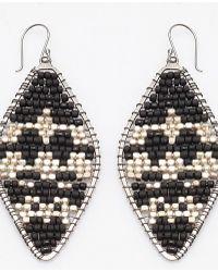 Nakamol - Ambre Earrings-black/silver - Lyst