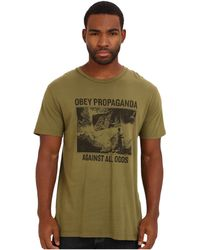 Obey Against All Odds Premium Tee - Lyst