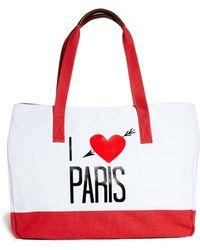 Wildfox White Label Wildfox I Love Paris Shopper Bag - Lyst
