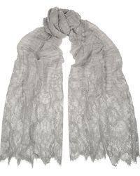 Valentino Crinkled Cashmere Scarf - Lyst