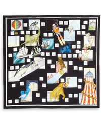 Swash London - Era Explorer Silk Scarf - Lyst