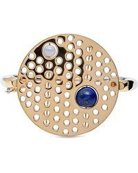 Uribe - Semiprecious Stone & Perforated Disc Hinged Bracelet - Lyst