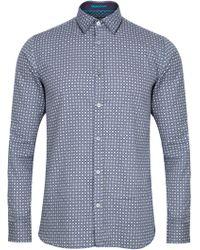 328546d670a65c ... Ted Baker - Rumple Print Long Sleeve Shirt - Lyst sale uk a284e 508d7  ...