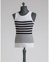 Dolce & Gabbana | Knit Vest In Striped Cashmere | Lyst